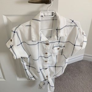 Tie-Front Utility Shirt
